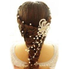 Harga Fashion Rhinestone Mutiara Bridal Bulang Bunga Pernikahan Gaun Accesory