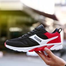 Jual Fashion Berlari Sneakers Outdoor Olahraga Sepatu Pria Merah Ori