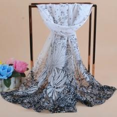 fashion scarf women scarves Polyester chiffon scarves soft smooth thin silk scarf for women phasmina wholesale women shawl - intl