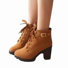 Spesifikasi Fashion Sepatu Boots Wanita Sandal Wedges Wanita Coklat Merk Fashion