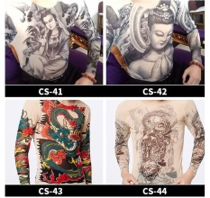 Beli Fashion Slim Men Women Skull Printing Tattoo With Long Sleeve T Shirt Size High Stretch Breathable Sunscreen Summer Quick Drying Tattoo Clothes Cs 43 Intl Cicilan