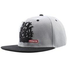 Mode Snapback Bisbol Cap Hat Visor Hat Liar Kepribadian Hip Hop Topi For Pria Wanita Abu Abu Intl Original