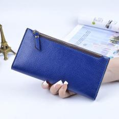 Harga Fashion Soft Pu Leather Zipper Coin Women Wallet Blue Intl Termurah