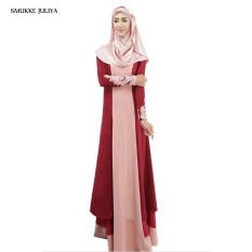 Fashion Disambung Muslim Dress, Big Girl Melayu Pakistan Dress, Hit Warna Xinjiang Nasional Kostum-Intl