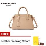 Toko Fashion Split Leather Trapeze Shoulder Bag Women Top Handle Bag Light Khaki Buy 1 Get 1 Freebie Online Tiongkok