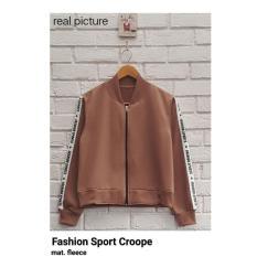 Jual Fashion Sport Jaket Bomber Wanita Crop Lengkap