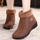 Diskon Besarjahitan Fashion Soft Sole Lapisan Bulu Casual Ankle Wanita Musim Dingin Hangat Boots Intl