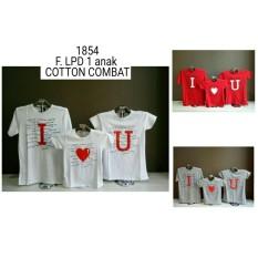 Fashion Story - Family Couple I Love U / Kaos Pasangan / Baju Couple Terbaru / Kaos Lucu / Baju Keluarga