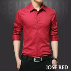Fashion Story - Kemeja Pria Jose RED  Kemeja Pria Murah