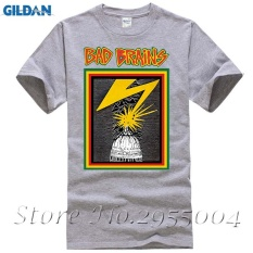 Fashion Style Bad Brains Capitol Short T Shirts Men Cotton Digital Man Casual Tees grey - intl