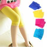 Harga Fashion Musim Panas Anak Gadis Renda Pakaian Cropped Pants Legging Warna Solid Intl Termahal