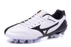 Fashion Sepatu Sepak Bola Musim Panas untuk Mens dan Womens Mizuno Yin dan Yang Pencocokan Warna Kuku FG Soccer Sneakers Ukuran 39 -45 (putih/Hitam) -Intl