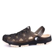 Harga Musim Panas Fashion Pria Sandal Breathable Pantai Sandals Croc Pria Sepatu Hollow Keluar Dari Drag Pria Shoes Sandal Untuk Musim Panas Hitam Intl Oem