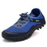 Harga Hemat Busana Musim Panas Pria Mesh Hiking Sepatu Pembohong Camping Olahraga Outdoor Intl