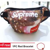 Cara Beli Fashion Supreme Chest Pack Boys Girls Kanvas Tas Bahu Messenger Bag Intl