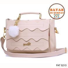 Spesifikasi Fashion Tas Selempang Handle Bag Wanita Cantik Dan Modis Original Fat 5213 Cream Dan Harganya