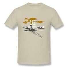 Fashion U2 Joshua Tree 30th Anniversary 2017 Dunia Concert Tour T Shirt TOP Pria Wanita INGGRIS Band Retro Pendek Lengan Tee Kemeja-Internasional
