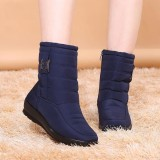 Spesifikasi Fashion Us Ukuran 5 11 Winter Women Down Kain Tahan Air Salju Boots Tetap Hangat Flats Intl Dan Harga