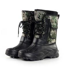 Modis AS Ukuran 8-11 Sepatu Pria Camo Berburu Sepatu Bot Anti-Air Lapisan Bulu Imitasi Karet Kaki- internasional