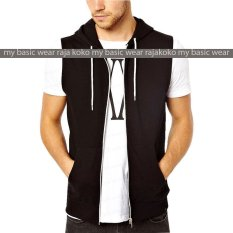 Jual Fashion Vest With Zippper Black Lengkap