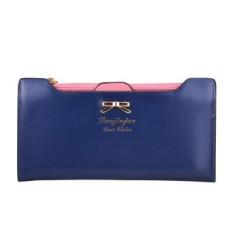 Spesifikasi Dompet Fashion Wanita Celana Panjang Wanita Dompet Perempuan Permen Warna Bow Knot Pu Kulit Carteira Feminina Untuk Coin Card Clutch Bag Biru Paling Bagus