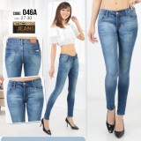 Harga Fashion Wanita Celana Jeans Fit Skinny Warna Dongker Wosh Termurah