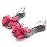 Harga Fashion Wanita Jelly Kristal Transparansi Bunga Bunga Mengenakan Sandal Datar Ci Kaki Kepala Ikan Pantai Meliputi Hak Sepatu Tunggal Oem Original