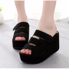 Jual Fashion Wanita Sepatu Sandal Wanita Murah Wedges El059 Abu Lcy 66 Scriptls Ori