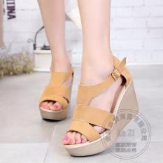 Daftar Harga Fashion Wanita Sepatu Sendal Wanita Murah Sandal Wedges Ls05 Tan Lcy 66 Scriptls