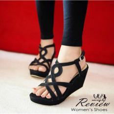 Toko Fashion Wanita Sepatu Sendal Wanita Murah Sandal Wedges Sl10 Hitam Lcy 66 Online