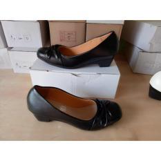Harga Fashion Wanita Sepatu Sendal Wanita Murah Sepatu Pantopel Wedges Otw04 Putih Lcy 66 Lengkap