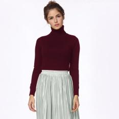 Harga Fashion Musim Dingin Wanita Sweater Knitwear Turtle Neck Lengan Panjang Ribbed Rajutan Pullover Tops Not Specified