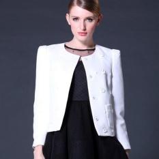 Fashion Wanita Baru Musim Gugur Wanita Jaket Kecil Harum Kecil Wangi Dingzhu Jaket Pendek-Intl
