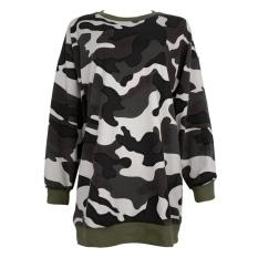 Harga Fashion Wanita Berkerudung Jaket Bomber Lengan Panjang Jaket Kamuflase Keringat Kemeja Yg Bagus