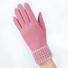 Beli Fashion Wanita Klik Layar Sentuh Sarung Tangan Outdoor Hangat Musim Dingin Sarung Tangan Pink Intl Pake Kartu Kredit