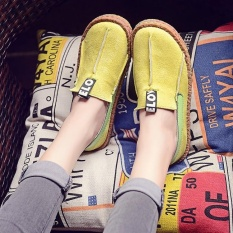 Jual Fashion Women Comfy Flat Loafers Round Toe Diving Leisure Shoes Ballet Flats Yellow Intl Not Specified