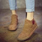 Tips Beli Fashion Wanita Elastis Pada Warna Murni Ankle Flat Gaya Eropa Boots Yang Bagus