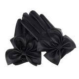 Spesifikasi Fashion Wanita Wanita Kupu Kupu Busur Pergelangan Tangan Lembut Kulit Winter Sarung Tangan Hitam Int Satu Ukuran Intl Murah Berkualitas