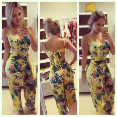 Harga Fashion Wanita Clubwear Musim Panas Pakaian Bermain Bodycon Pesta Jumpsuit Baju Monyet Kuning Intl Baru Murah