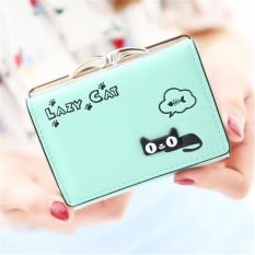 Katalog Fashion Women Lady Purse Handbag Clutch Change Coin Card Holder Bag Short Wallet Green Intl Terbaru