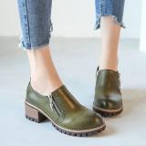 Toko Fashion Wanita Leather Martin Boots All Seasons Wanita Nyaman Sepatu Hijau Intl Terlengkap Tiongkok