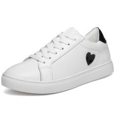 Jual Fashion Women Low Cut Sneakers Lady Embroidery Casual Shoes White Simple Fashion Skateboard Shoes Intl Di Tiongkok