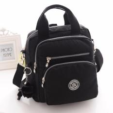 Fashion Wanita Nilon Tahan Air Ransel Multi-function Shoulder Bag (Hitam)- Intl
