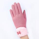 Beli Fashion Wanita Kolam Musim Dingin Hangat Klik Sarung Tangan Layar Sentuh Berwarna Merah Muda Pake Kartu Kredit