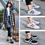 Review Terbaik Fashion Wanita Platform Sepatu Kanvas Klasik Low Style Casual Ladies Comfort Bertali Flat Internasional