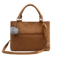 Jual Fashion Wanita Pu Kulit Tote Tas Bahu Crossbody Satchel Purse Bag Intl Murah