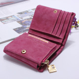 Beli Fashion Women Purse Leather Lady Handbag Wallet Button Clutch Card Case Coin Bag Rose Red Intl Seken