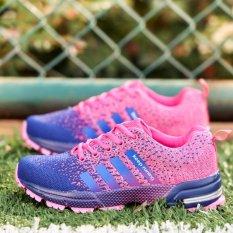 Promo Fashion Wanita Sneakers Kasual Sepatu Lari Ungu Intl
