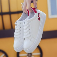 Beli Fashion Women Sneakers Shoes Female Letter Embroidery Sneakers Platform White Shoes Intl Oem Online