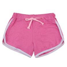 Jual Beli Women S 4 Colors High Waist Career Short Skirts Slim Pants Bang Pendek Olahraga Kontras Mengikat Sisi Dibagi Elastis Ikat Pants Yoga Berwarna Merah Muda Hong Kong Sar Tiongkok